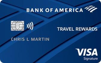 Bank of America® Travel Rewards credit card 旅行信用卡