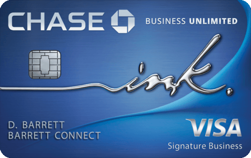 Chase Ink Business Unlimited® Credit Card 商业返现信用卡